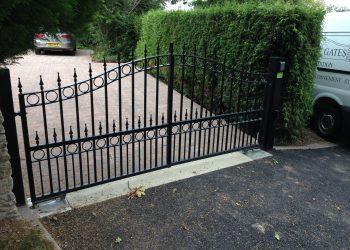 Automatic Electric Gates Oxford Wrought Iron & Aluminium Wood Bespoke - Gloucester Wiltshire Empire Gates Made To Measure-iron